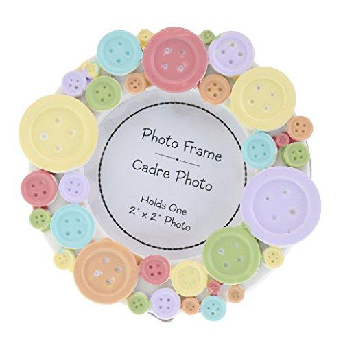 Gazechimp Mini Fotorahmen Rund Bilderrahmen für Kinder - Bilderrahmen Kinder, Runde