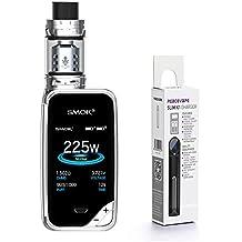 AUTÉNTICO SMOK X PRIV Kit 225W TFV12 PRINCE 2mL Tank Cigarrillo electrónico (Cromo) SMOK