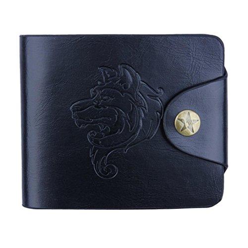 squarex Herren Bifold Business Leder Geldbörse ID Kreditkarte Halter Taschen schwarz schwarz AS Show (Wallet Bi-fold Autos)