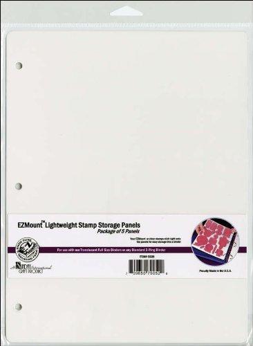 Unbekannt Crafter 's Companion 8,5x 27,9cm Stamp-n-Store Aufbewahrung, Panels, 5Stück transparent