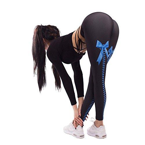 Pantaloni Sportivi Donna Leggins Sportivi Fitness Pantaloni Yoga da Donna Elastici Collant Leggings Sportivi Stampa Fiori Yoga Leggings Sportivi