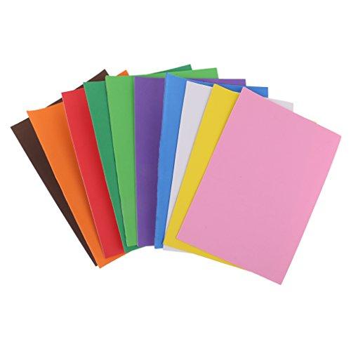 4 Schaum Schaumstoff-Blätter selbstklebend Schwamm Papier Diy Bastelbedarf ()