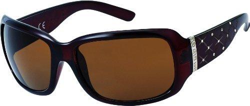 Damen Sonnenbrille mit Strass Art. 8183-2 braun/braun