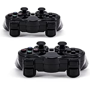 CSL - 2x Wireless Gamepad für Sony Playstation 2 kabellos Controller PS2 Set