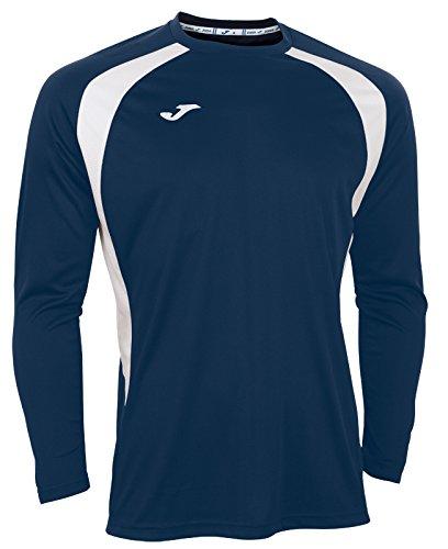 Joma 100015.302 - Camiseta de equipación de manga larga para hombre, color azul marino / blanco, talla S