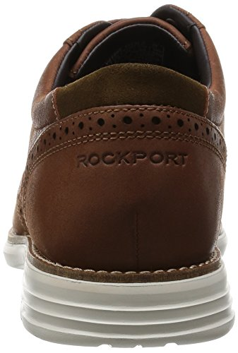 Rockport Total Motion Wingtip, Brogues Homme Marron - Marron (caramel)