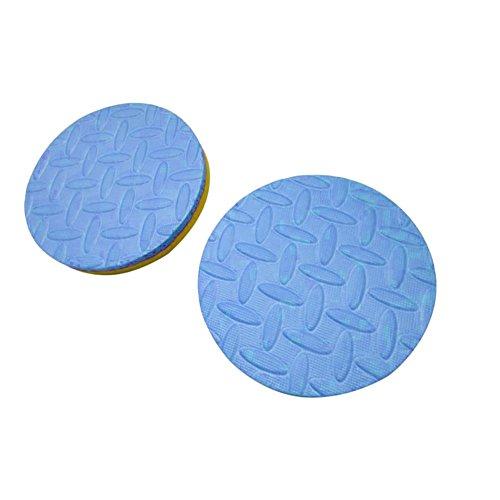 collectsound 2 Stück 2 Farben Knie-/Ellenbogenschoner Yoga Runde Matten Fitness Plank Gym Schutzkissen Yellow + Blue