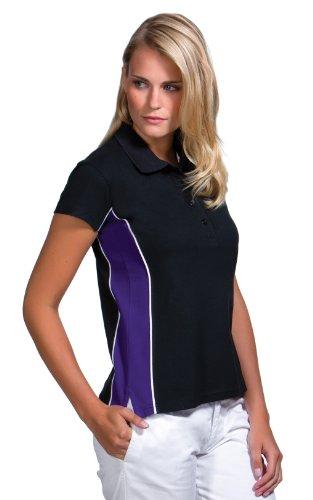 Gamegear da Donna Track piquet, Abbigliamento Sportivo, a Maniche Corte Black Purple
