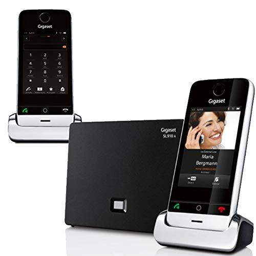 Gigaset Duo - Pack de 2 teléfonos inalámbricos con pantalla táctil (SL910H, SL910A), color negro