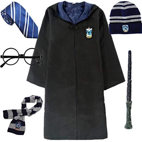 IWFREE Harry Potter Gryffindor Hufflepuff Ravenclaw Slytherin Kostüm Umhang Set...