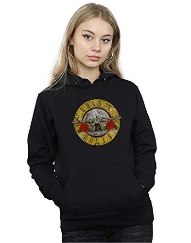 Guns N Roses Damen Vintage Bullet Logo Kapuzenpullover X-Small Schwarz