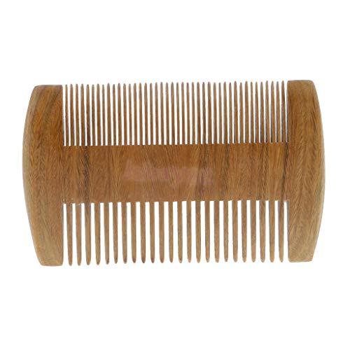 SUNG-LL, Seiten Holz Bart Kamm Holz Baby Kamm & Frauen Kamm Handgefertigte Antistatische Taschenformat Bart Kamm Natürliche Meterial (12 cm) -