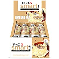 PhD Smart Bar High Protein Low Carb Bar White Choc Blondie, 64 g, Pack of 12