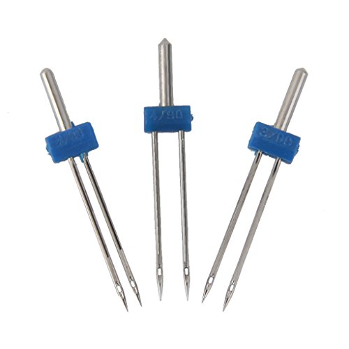 Imported 3pcs Double Needles Pins for Domestic Sewing Machine