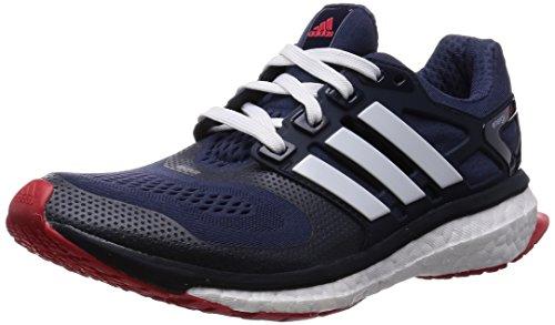 Adidas Energy Boost Esm M Scarpe sportive, Uomo, Multicolore (Midnight Grey F15/Ftwr White/Vivid Red S13), Taglia 44 EU