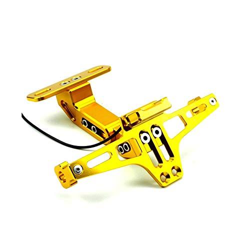 Preisvergleich Produktbild Huihuiya Motorrad-Kennzeichenhalter-Rahmen Blinker-Zubehör-Gold