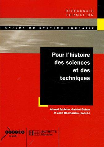 Pour l'histoire des sciences et des techniques