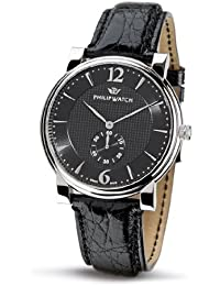 Philip Men's Wales Analogue Watch R8251193025 with Quartz Movement, Black Dial and Stainless Steel Case