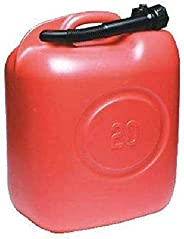 Jerrycan kunststof rood LT. 20
