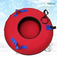 ZHAOK Trineo de Hielo Sled Tubo de Nieve de Inflable Trineo de Nieve Resistente de 39 Pulgadas Winter Fun Herramientas de Esquí,D