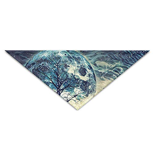Gxdchfj Howling Wolf and Bare Tree Turban Triangle Scarf Bib Scarf Accessories Pet Cat and Baby Puppy Saliva Dog Towel -