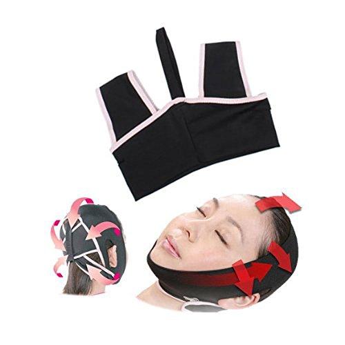 Tinksky Neuheit v-Linea 3D Gesicht Wange Kinn Liftup Gestaltung Miederhose Gürtel Schlaf Gürtel Anti-Falten Gesicht Maske Gürtel-Größe L