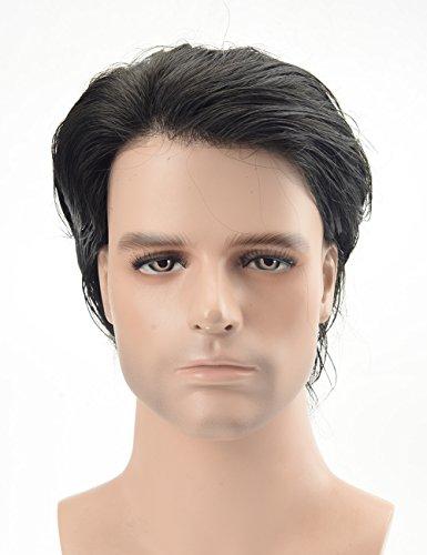 Lordhair Peluquín Super Thin Skin 100% Cabello humano Color #1A Negro Oscuro