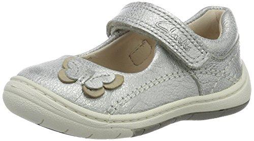 Clarks Baby Mädchen Softly Wow Fst Lauflernschuhe, Silber (Silver Leather), 23 EU