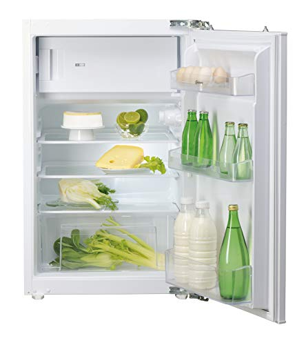 Bauknecht KVIE 500 A++ Einbau-Kühlschrank mit Gefrierfach/A++/147 kWh/Höhe 87,5 cm/102 L Kühlen/18 L Gefrieren/Jahrleise mit 35dB/LED-Licht/Abtauautomatik/Einfache Festtürmontage SetmoQuick/Nische 88