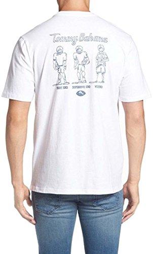 Tommy Bahama Tight End Defensiv Ende Medium weiß T-Shirt