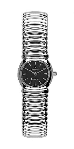 Reloj de Mujer Edox Les auges 21148/L2con Movimiento de Cuarzo, Caja y Pulsera de Acero Pulido