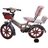 Global Bikes Spider 16T Kids Bicycle for 5 to 8 Year Fully Adjustable with Back Support for Boys and Girls (16T,Red)