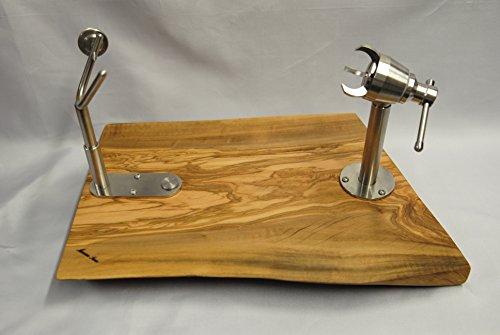 Mgmshop porta prosciutto crudo artigianale in legno di olivo