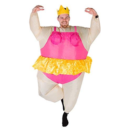 Kostüm Aufblasbar Fat Ballerina - Bodysocks® Aufblasbares Ballerina Kostüm für Erwachsene