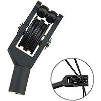 ZSHJG Tiro con Arco Cable Slide Aluminio Cadena Divisor Separatorow y Flecha Equipo Compuesto Diapositivas para Arco Separador de Polea (Negro)