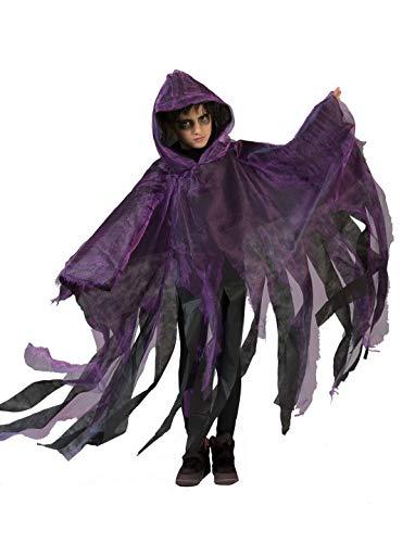 Halloweenia - Jungen Kinder Kostüm, Gespenster Cape Geist Ghoul Ghost perfekt für Halloween Karneval und Fasching, 110-140, ()