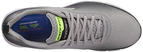 Skechers Equalizer This Way, Baskets Basse Uomo Grigio (gybk)