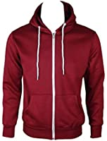 Home of Fashion Womens Wine Hooded Jumper Jacket