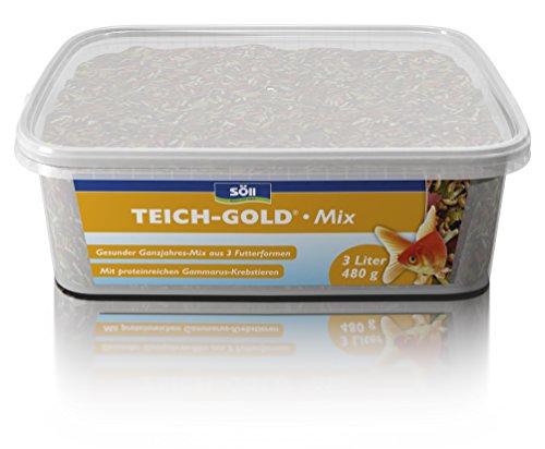 Söll  18811 Teich-Gold Mix - Alleinfuttermittel für alle Teichfische - Fischfutter - Gartenteich, 1er Pack (1 x 3 l)
