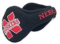 Degrees By 180s NCAA Nebraska Huskers Collapsible Behind-The-Head Fleece Winter Ear Warmer