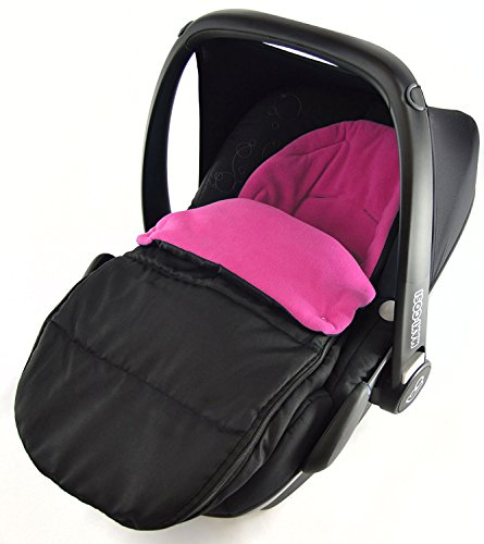 Autositz Fußsack/COSY TOES kompatibel mit Phil & Teds Alpha pink rose