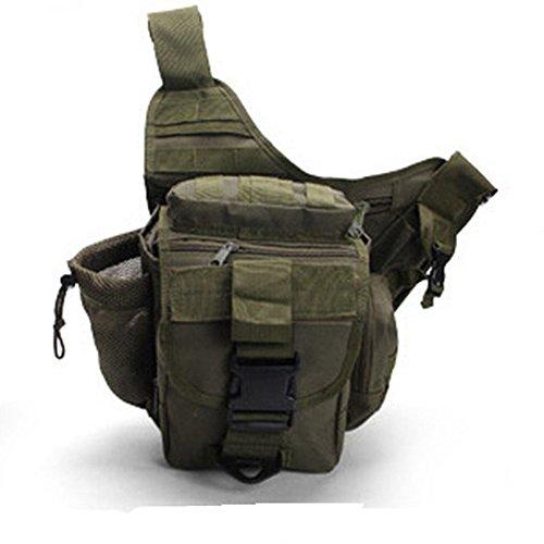 dohot Wasserdicht Tactical Assault Kleines One Riemen Sling Schulter Rucksack für Camping Wandern Trekking armee-grün