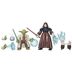 Hasbro – B3830 – Hero Mashers – Star Wars – Yoda VS Empereur Palpatine – 2 Figurines Personnalisables