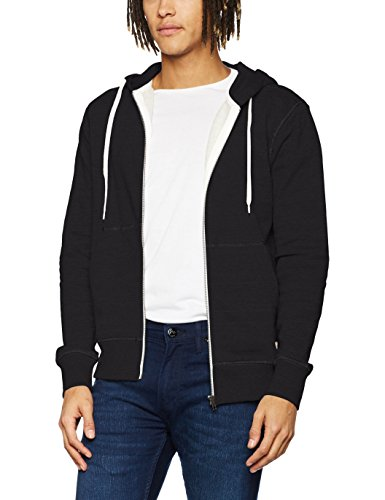 JACK & JONES Herren Jacke Jorstorm Sweat Zip Hood Basic Noos, Schwarz (Black Fit:Reg), Small (S)