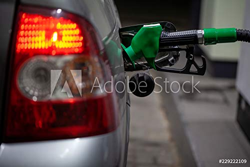 druck-shop24 Wunschmotiv: Fuelling Gun Inserted into The Tank of Gray car. refueling Gun in The Tank at The Gas Station #229222109 - Bild als Foto-Poster - 3:2-60 x 40 cm / 40 x 60 cm (Station Fotos Gas)