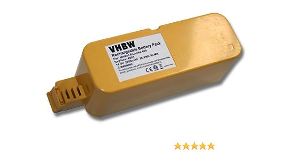 14.4V vhbw NiMH batteria 2000mAh per robot aspirapolvere home cleaner come YX-Ni-MH-022144