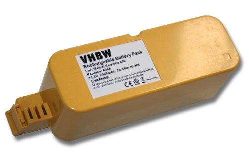 vhbw Batería NiMH 2000mAh (14.4V) para Aspirador Vileda M-488a como APS 4905.