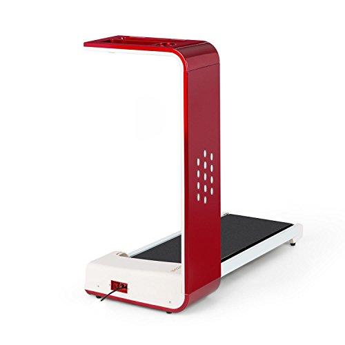 Klarfit Home Runtasy • Tapis Roulant • Nastro Corsa • Regolazione Velocità 0,8-10 Km • 1200W • Richiudibile • Peso Massimo 100 Kg • Schermo LED • Connettività Bluetooth • Blocco di Emergenza • Rosso
