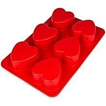 Molde de Silicona con corazones, 55pequeños corazones, molde de silicona dulce, Cubitos de hielo, Chocolate, bombones, molde, idea de regalo, color: rosa