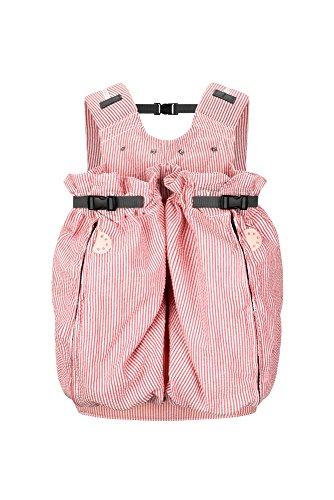 """Weego Babytragesack Modell #326 TWIN \""""Red & White Seersucker\"""", speziell für Zwillinge ab einem Gewicht von 1800g"""